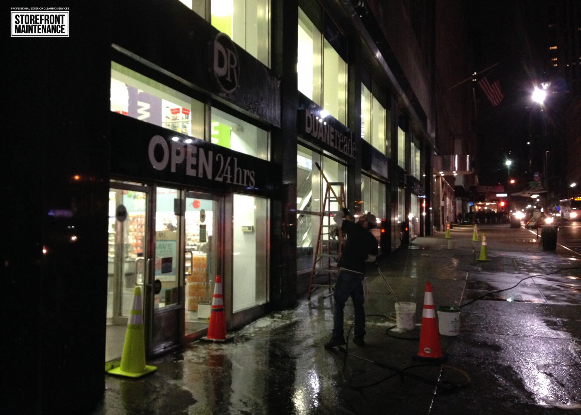 NYC Storefront Sign Cleaning and Pressure Washing 5