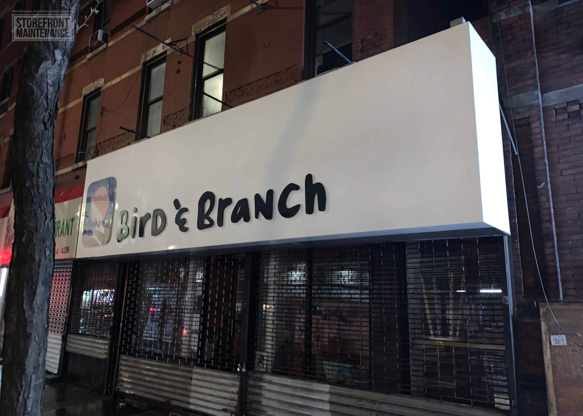 NYC Storefront Sign Cleaning and Pressure Washing 2