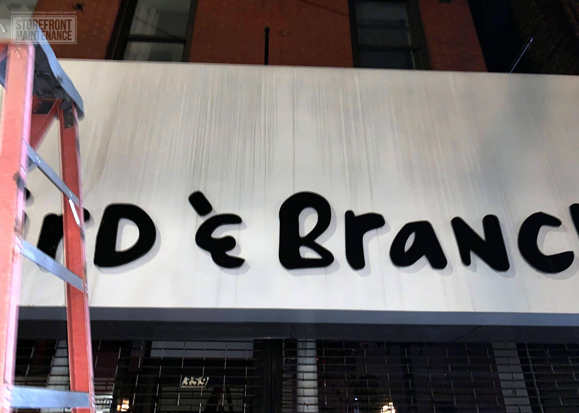 NYC Storefront Sign Cleaning and Pressure Washing 3