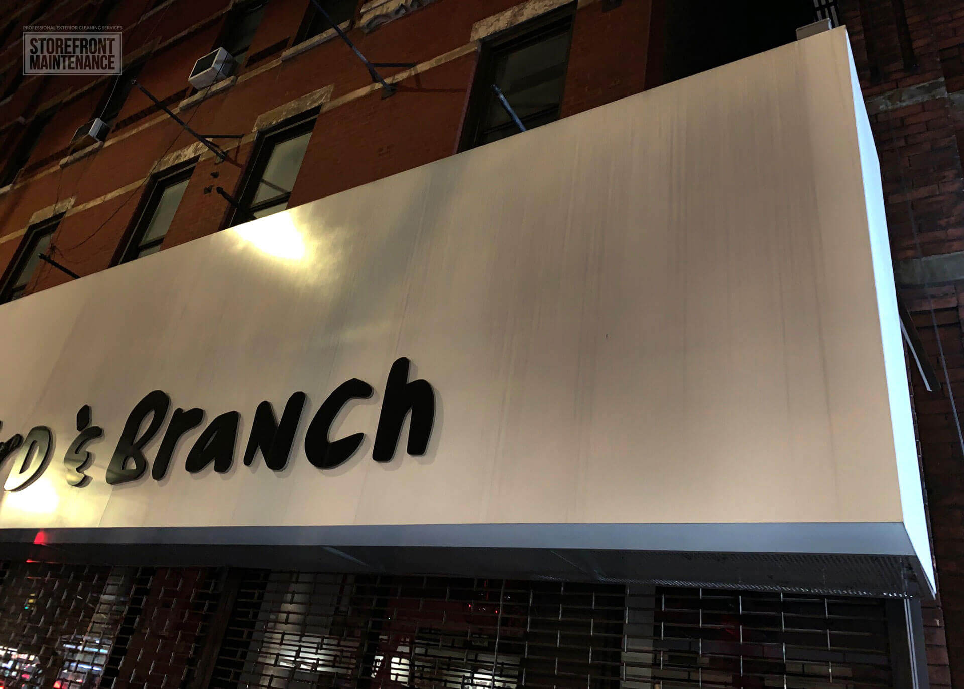 NYC Storefront Sign Cleaning and Pressure Washing